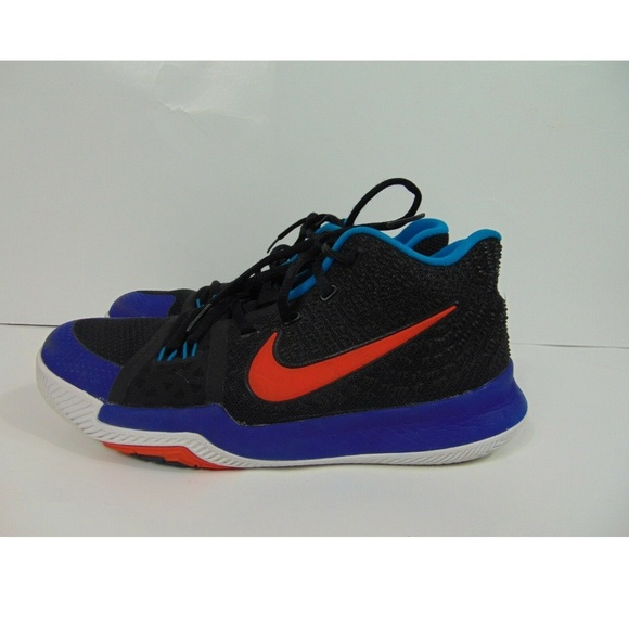online retailer dec90 3d4b5 Nike Kyrie 3 Youth 859466 007 Blue Black Athletic